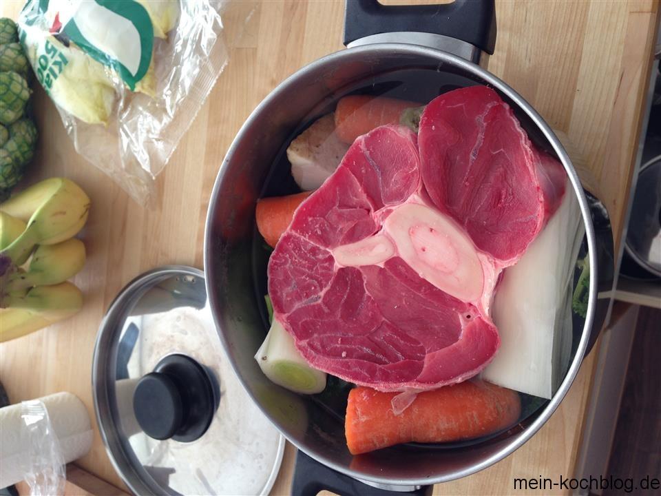 Rindfleisch kochen